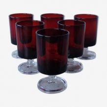6 petits verres Luminarc Rubis