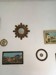 Miroir soleil vintage fabriqué en Italie
