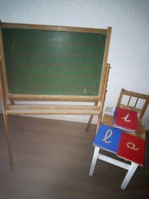 Tableau d'écolier vintage