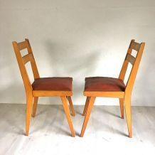 Ensemble de 6 chaises vintage 60's