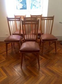 Série de six chaises vintages