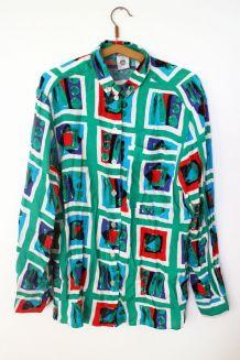 Chemise vintage colorée années 70