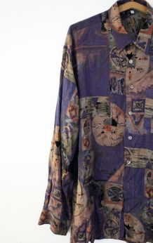 Chemise vintage kitsch des années 70