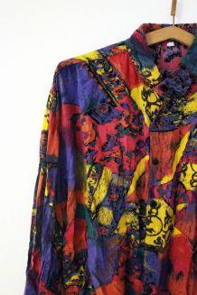 Chemise flashy vintage des années 70