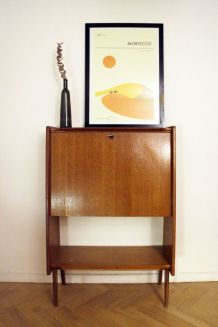 Secrétaire bureau vintage style scandinave des années 60