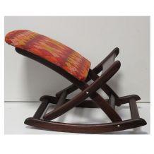 Tabouret / repose-pied teck vintage, design scandinave