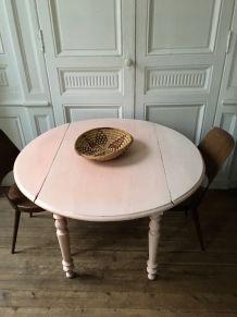 Table bois massif vintage
