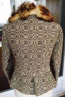 Superbe veste renard laine t 38