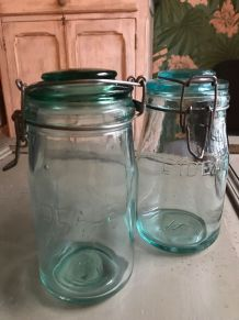 Bocaux en verre lDEALE vert X2