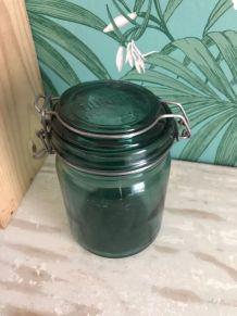 Bocal en verre DURFORT vert