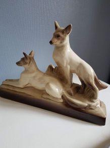 statue animalière céramique signée L François Ste Radegonde