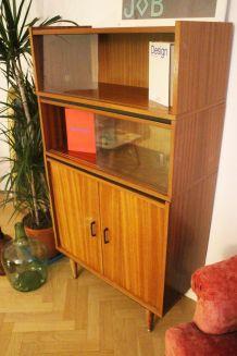 Meuble bibliothèque vitrine vintage 50's style P. Guariche