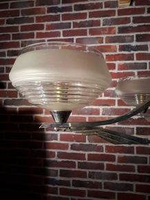 grand lustre art deco  40s  5globes