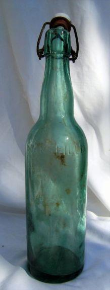 bouteille bouchon mécanique porcelaine Brasserie marx xertig