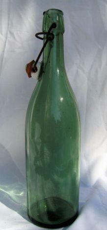 bouteille bouchon mécanique porcelaine sérigraphiée Z vintag