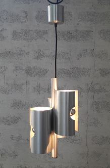 Suspension alu brossé design 70's