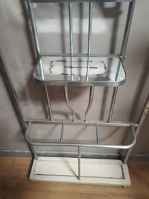 porte manteaux aluminium 1950 en bon etat  le grand miroir e
