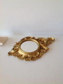 Miroir doré rococo
