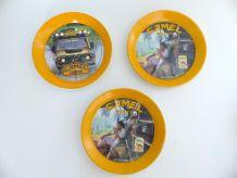 Lot 3 Coupelles CAMEL Ramasse Monnaies Collection Vintage