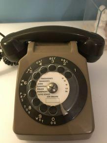 Téléphone à cadran socotel s63 vintage