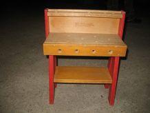 Atelier établi en bois PLAYSKOLL jouet enfant vintage