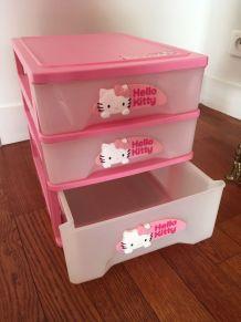 Casier à tiroirs Rangement Hello Kitty