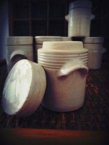 Vintage pot à épices grès vernissé DIGOIN