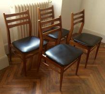 Quatre chaises vintages scandinaves
