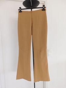 Pantalon fendu chic beige
