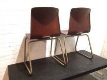 Set de 2 Chaises vintage Scandinave Elmar Flototto