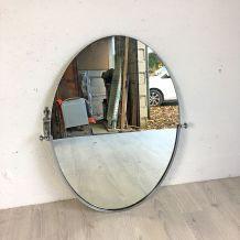 Miroir ovale vintage 70's