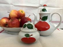 Service à café, sucrier Porcelaine Bavaria Pop Kitsch