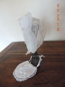 Ancienne coiffe et pochette de communion