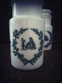 vintage pot apothicaire opaline pot à épices