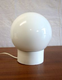Plafonnier globe blanc – Design circa 70