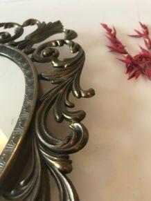 Miroir ovale psyché vénitien en métal
