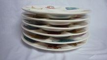 Set 6 assiettes à huitres Villeroy et Boch