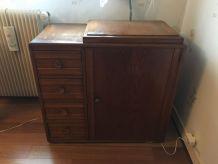 Ancienne Machine A Coudre avec meuble marque STOEWER