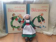 ensemble poupée et livres Bécassine