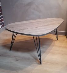 table basse tripode pied en epingle
