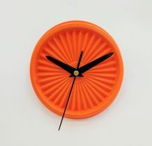 "Horloge vintage, pendule ""Tupperware Orange"""