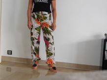 Pantalon vintage fleuri