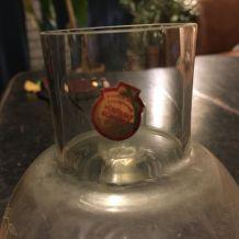 Carafe de chevet et verre assorti