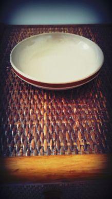 Gien - assiette en grès vernissé vintage