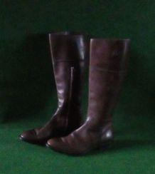 Bottes en cuir marron taille 37