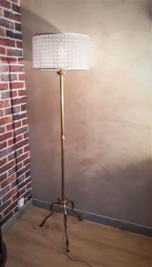 lampadaire bronze 1960 à 70 pied bronze