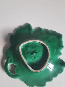 vide-poche feuille en céramique vernie