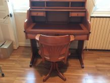 Ensemble bureau, chaise, étagères, armoire Gautier