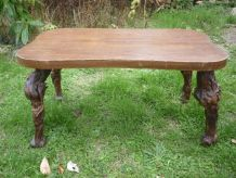 Table basse en bois,pieds ceps de vigne