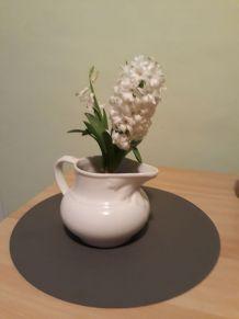 ancien pot de toilette blanc, céramique